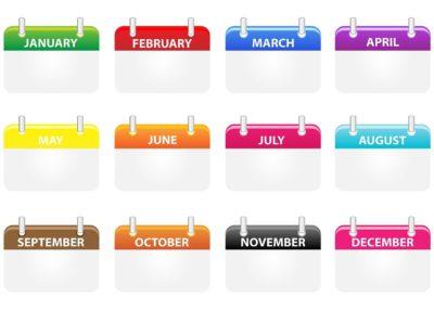 イタリア語の語彙力UP!日時を表す単語12選「1月~12月」